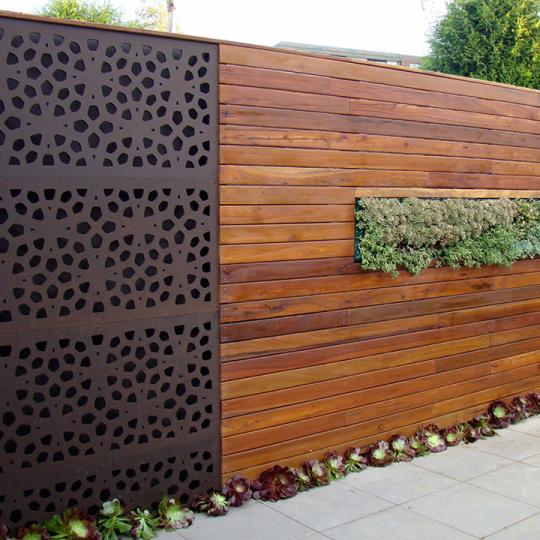 Ongebruikt Schuttingen van hardhout en staal, mooi voor elke tuin UP-83