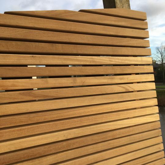 Ongekend Schuttingen van hardhout en staal, mooi voor elke tuin WQ-78
